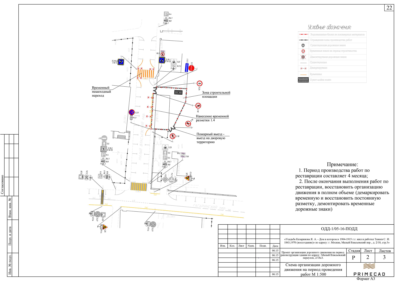 Схема организация дорожного движения при строительных работах